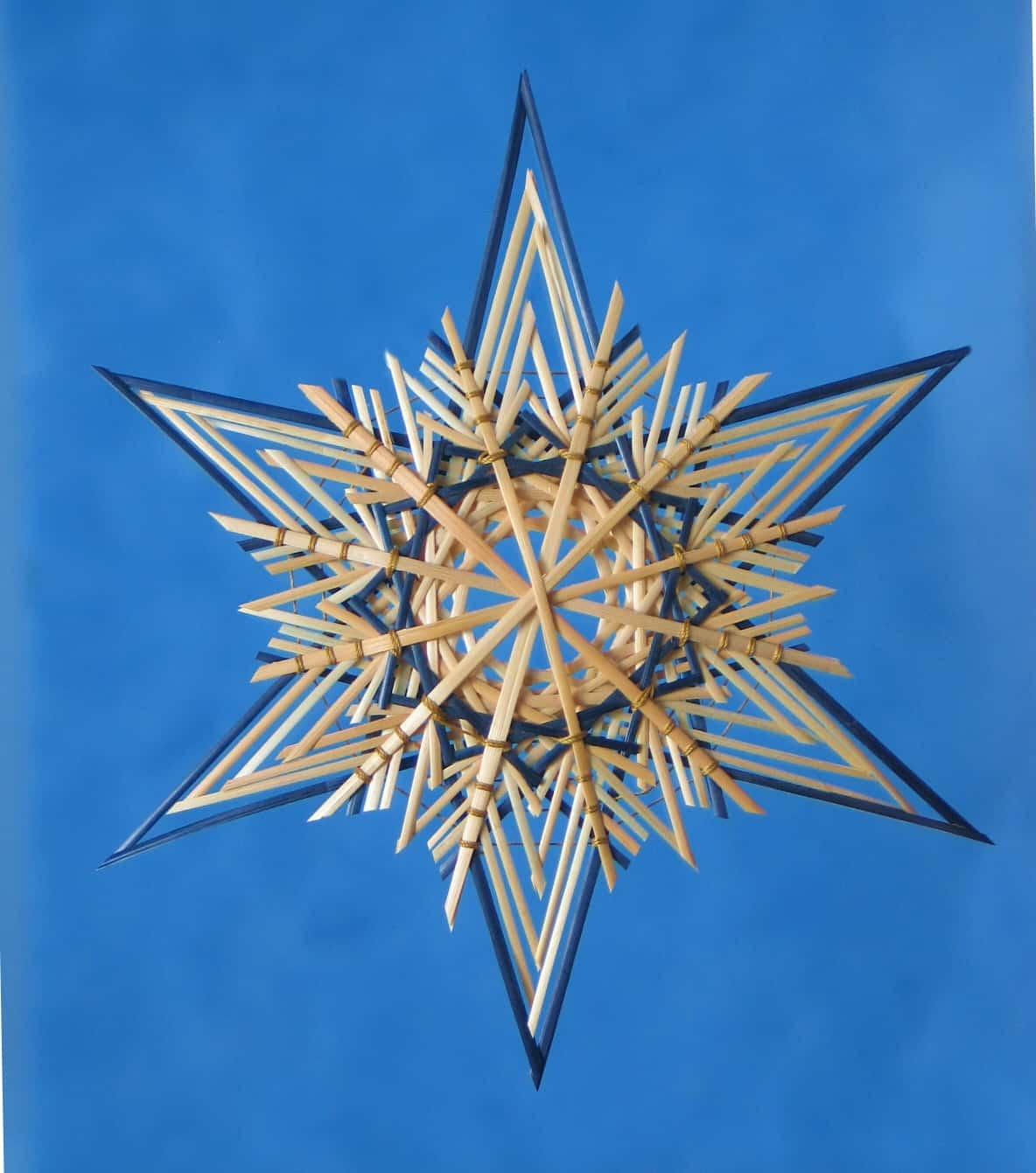 christmas star, star supplies, wheat stalks,