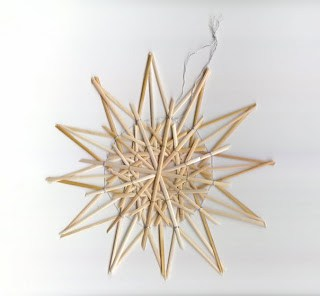 Christmas straw stars, wheat supplies, craft straw
