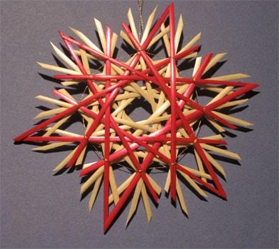 christmas straw stars, wheat stalks, craft wheat stalks