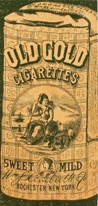 1880s bag of cigarettes, Courtesy Richard Elliott