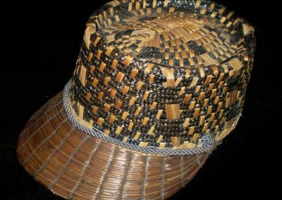 1930s Yeddo straw cap from Italy, mixture of plait and woven whole straw - Courtesy of thespectrum