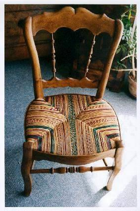Rush chair repair, rush chair seat design, chair upholstery