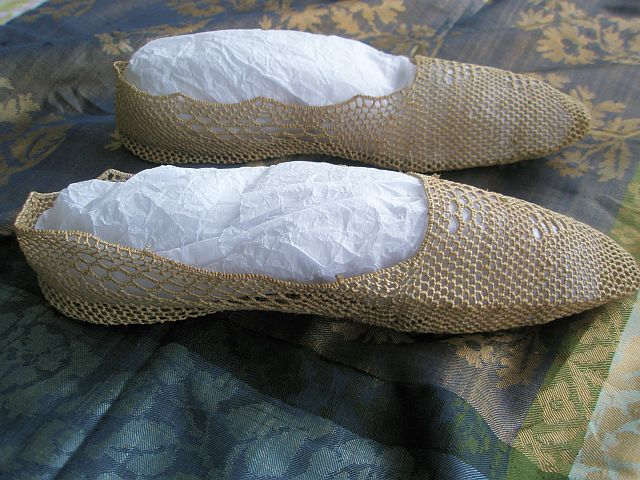 antique straw shoes