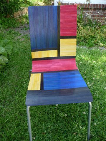 Anne-Marie Choain Chaise a la Mondrian