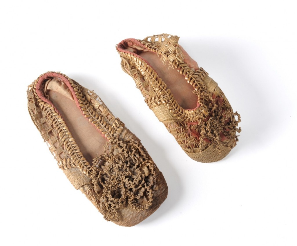 Antique Straw Childrens Shoes, straw decorated shoes, straw decorated shoes, straw shoes, straw art history, vintage straw shoes, antique straw shoes, The Straw Shop straw fashion, The Straw Shop