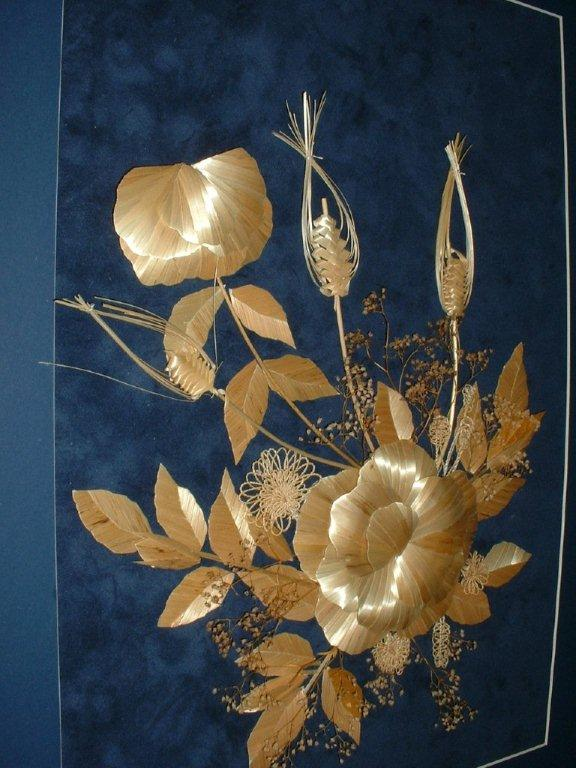Straw Marquetry Plus by Elda Heidemann