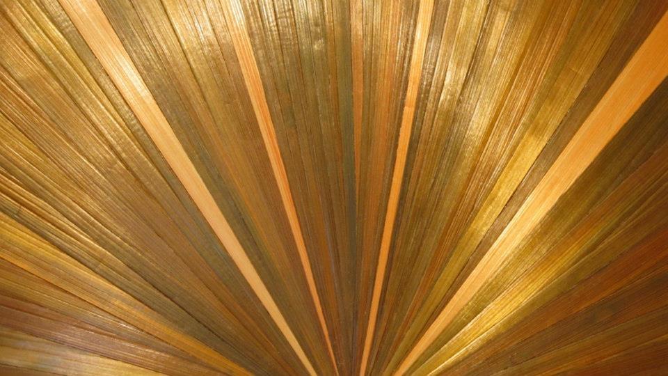 straw marquetry sunburst