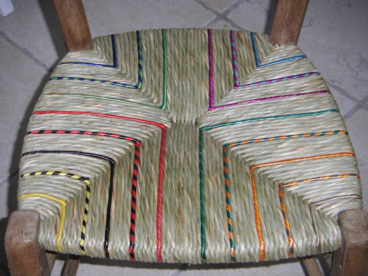 Rush chair repair, rush chair seat design, chair upholstery with rye straw