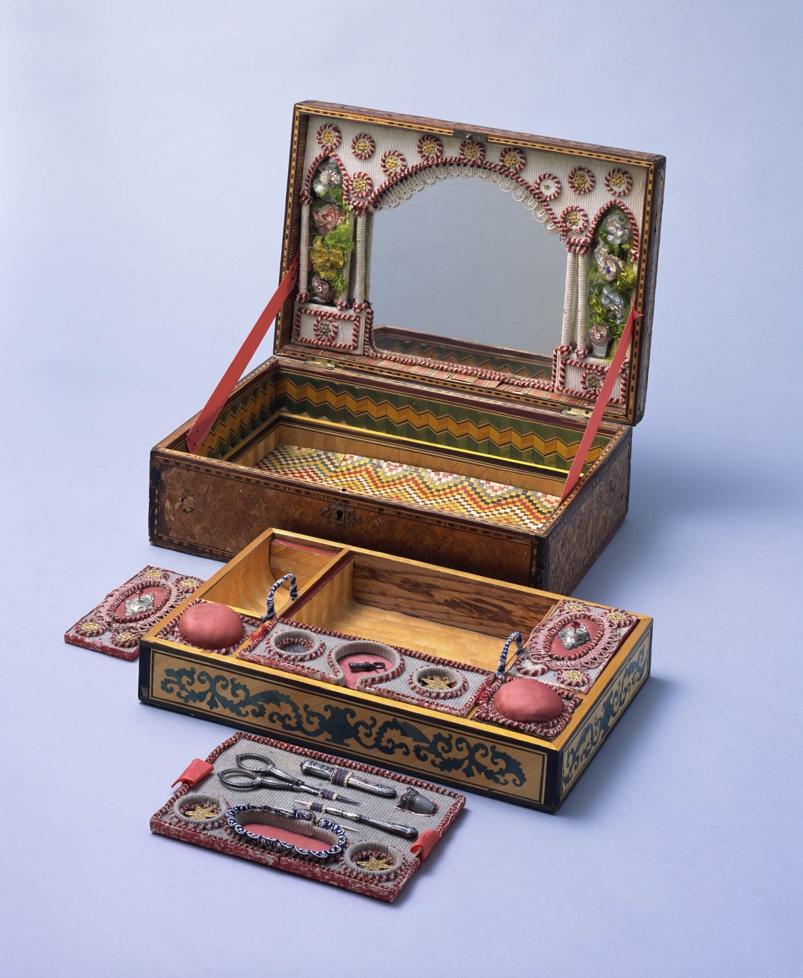 Late 1700s sewing box ©The Kyoto Costume Institute, photo by Takashi Hatakeyama