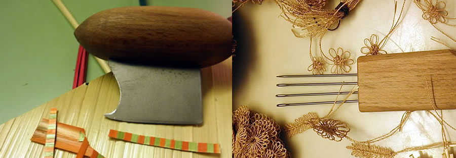 Straw marquetry tools
