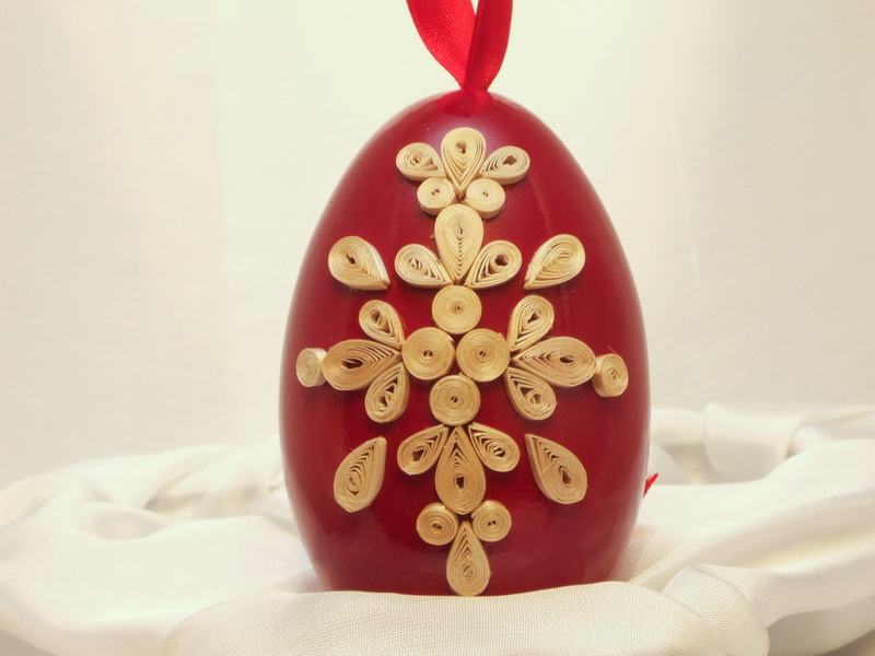 straw quilling, egg quilling, Straw egg