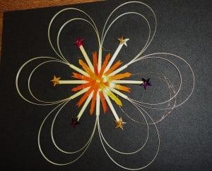 straw star with splits