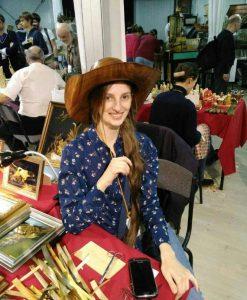 Lyudmila Kushnir, Ukraine artist, straw artist, straw art, applique straw, The Straw Shop