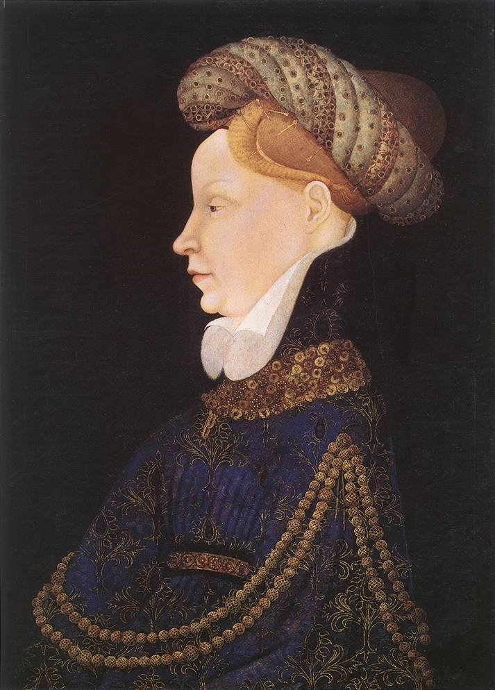 Bourrelet hat painting Portait of a Princess 1420 Natl Gallery of Art Washington