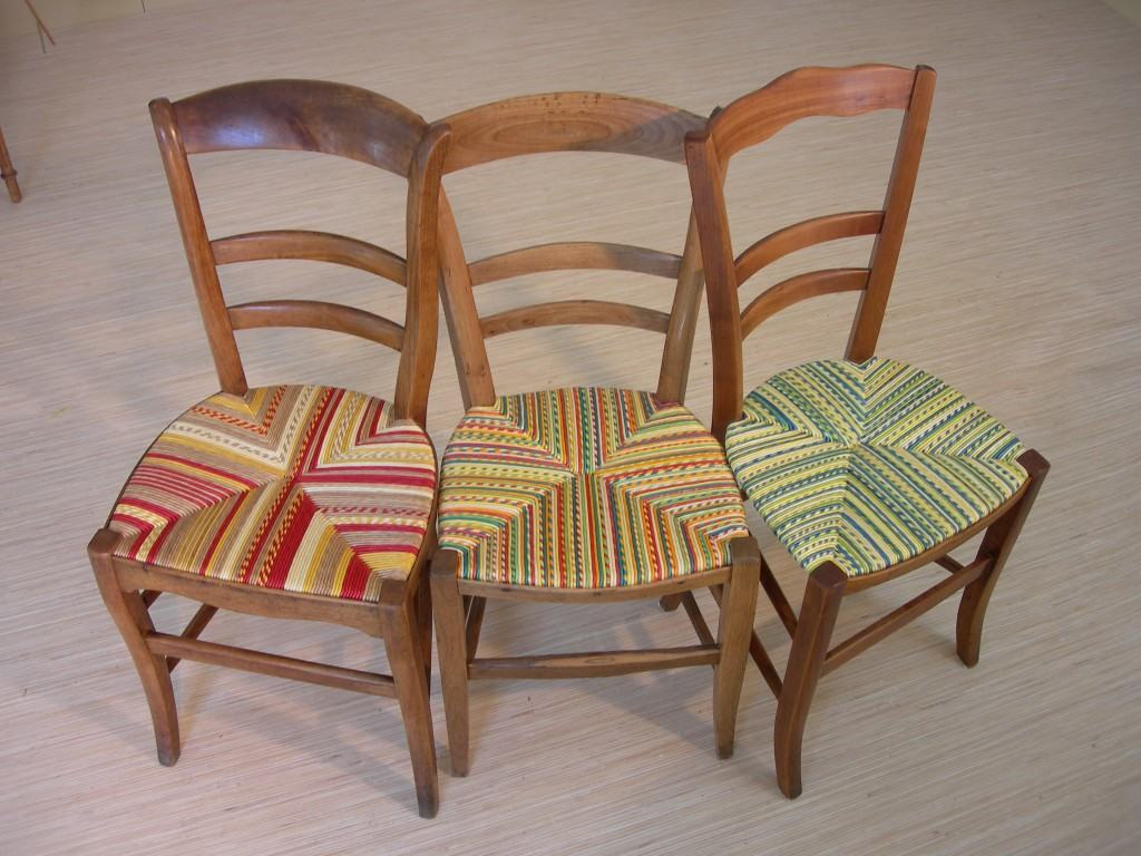 Denis guerin 3 chairs, rush chair restoration, rush seating restoration, the straw shop,
