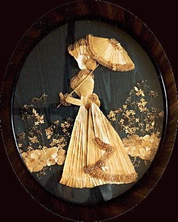 Victorian by Elda Heidemann, straw marquetry, straw artist