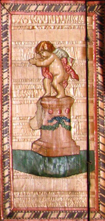 Embossed Toilet Box inner panel with cherub Courtesy Metropolitan Museum of Art NY