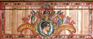Embossed straw example with Napoleon profile, Courtesy Metropolitan Museum of Art, NY