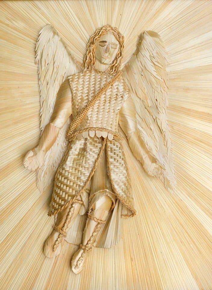 Embroidery St Raphael, Joan Dulcey, USA 2014