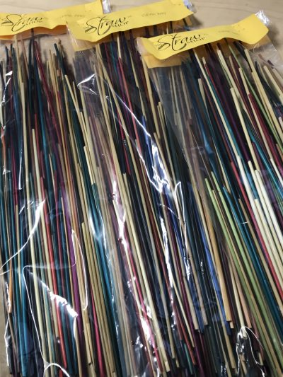 Grab Bags, Courtesy The Straw Shop., multi-colored rye straw