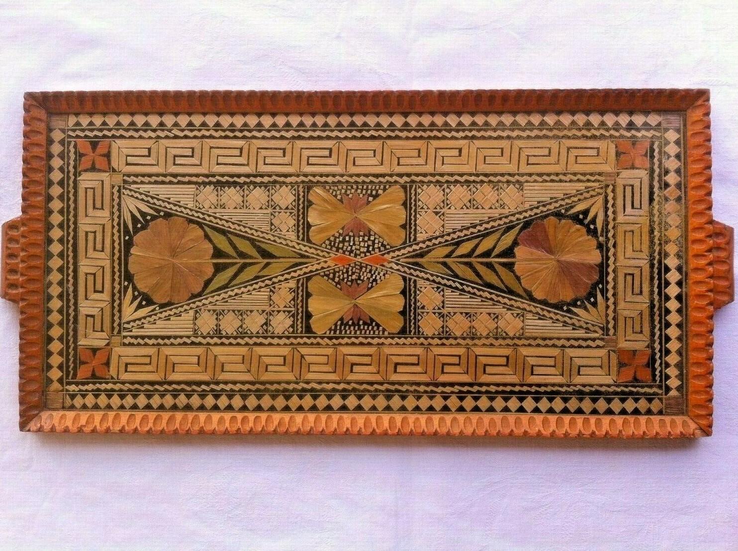 eBay, Greek Straw Tray, Greek prisoner, prisoner art, The Straw Shop