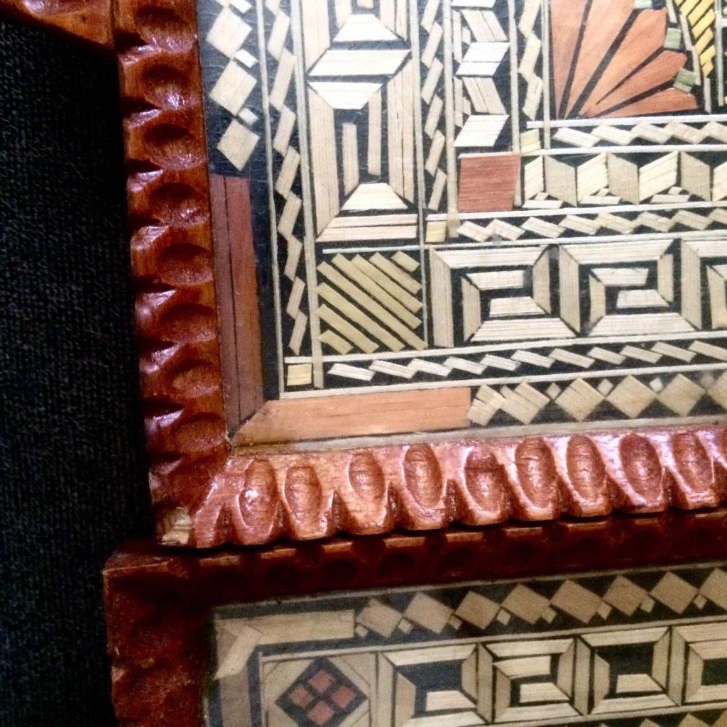 Greek straw trays 2 detail of hand hewn frames, Courtesy Ebay, The Straw Shop