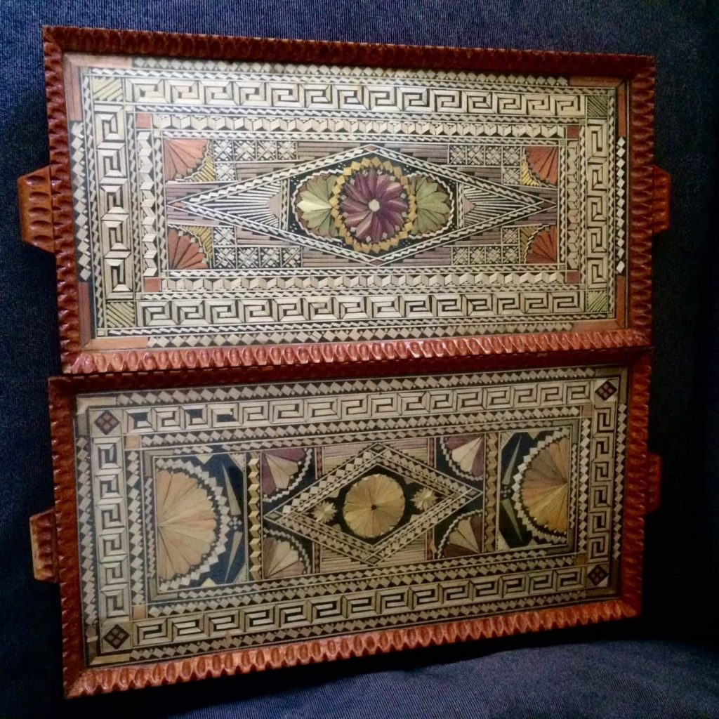 Greek trays, Courtesy Ebay, The Straw Shop