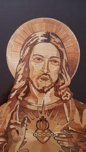 Jasmin Mesaric, The Straw Shop, Croatia art, Croatia straw art, religious art in straw, Jesus straw