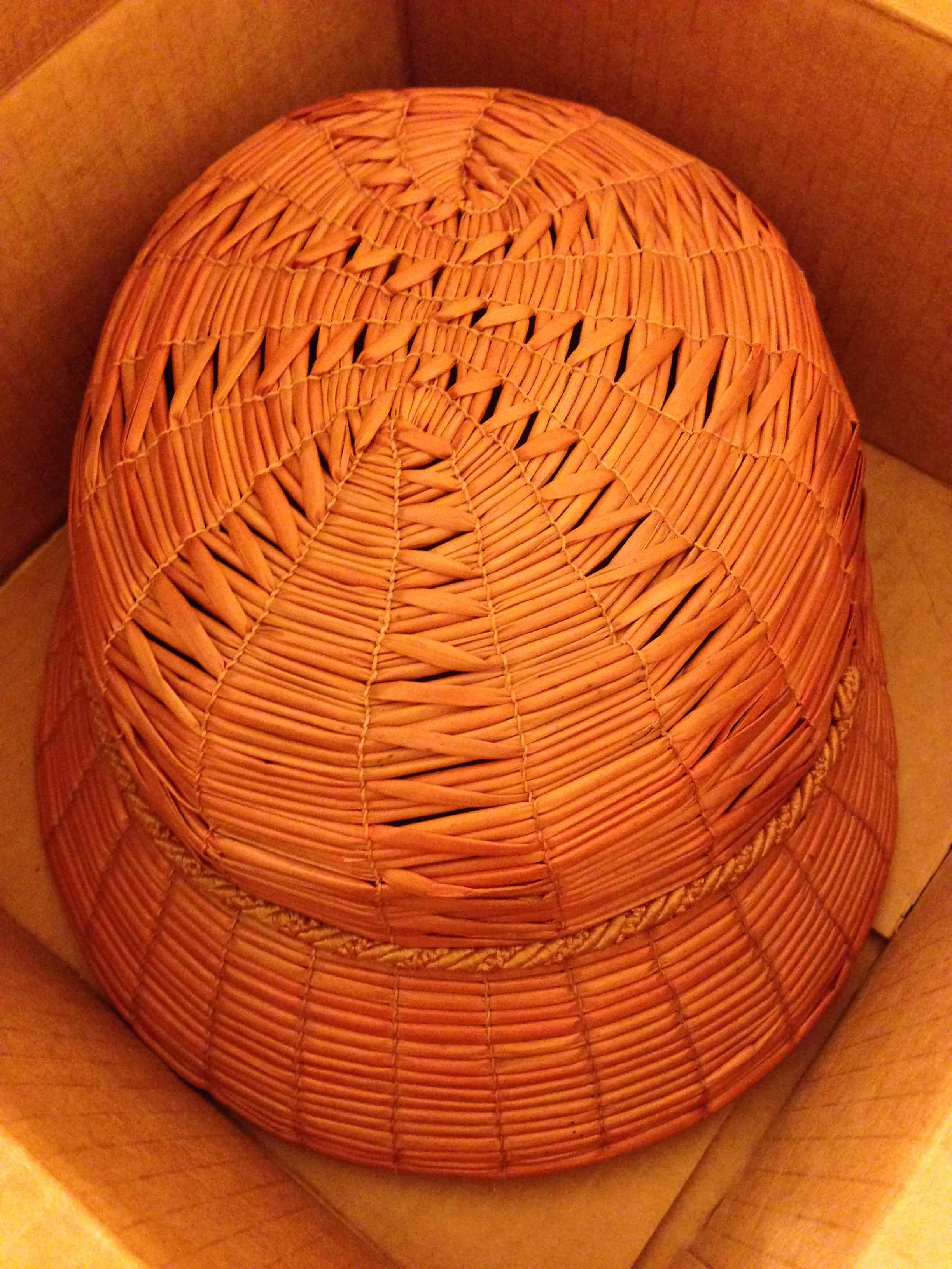 """Yeddo"" patterned hat, Italian, courtesy The Straw Shop Collection"