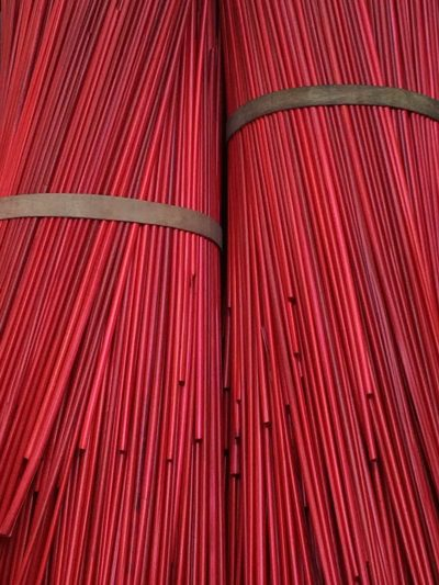 red dyed rye, dyed rye straw, straw marquetry, The Straw Shop