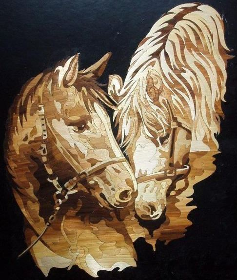 Jasmin Mesaric Croatia horsesThe Straw Shop, straw art, pyrography straw , inlaid straw
