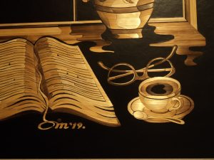 asmin Mesaric Spring Morning detail of book and coffee cup, courtesy the artist