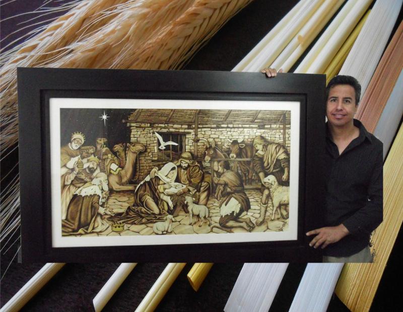 Jorge Huerta straw artist