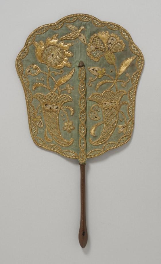 LACMA straw fan circa 1740