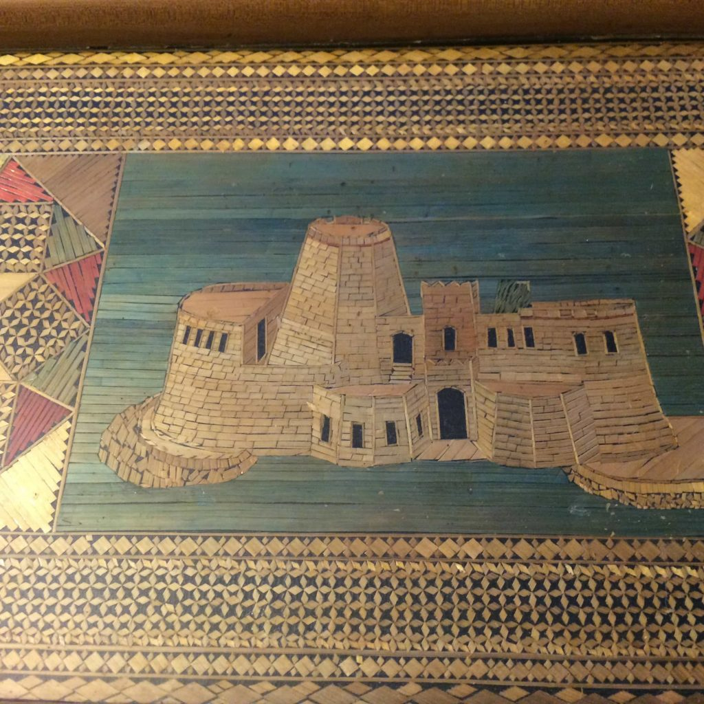 Mystery tray Old Venetian fortress Bourtzi in Nafplio, Greece Courtesy The Straw Shop Collection