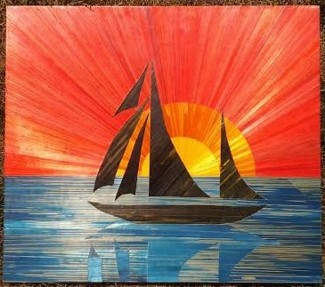 Nadja Tromivic aka Nadia Mitrovic, CH, sailboat,courtesy the artist