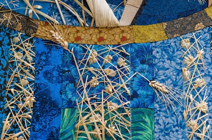 Natalia Lashko straw embroidery, straw quilting, straw craft, natalia lashko, straw art, stumpwork,