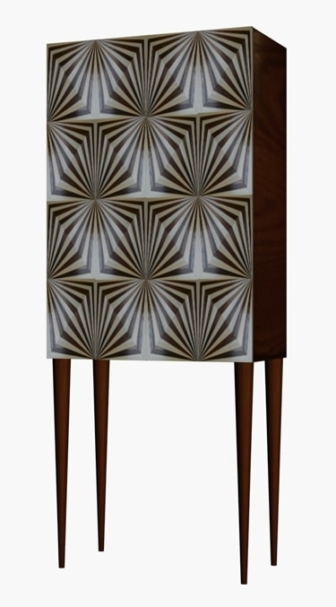 OpArt_drinks_cabinet by Violeta Galan UK