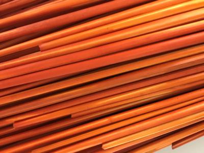 Orangecicle ,Courtesy The Straw Shop, art straw, striped straw, rye straw, dyed rye straw