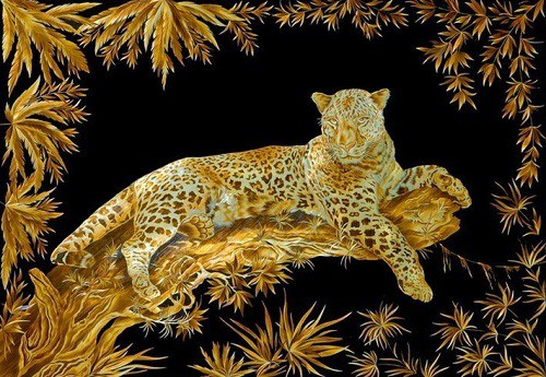 Pyrography straw art by Russian artist Valery Kozlov, pyrography straw art, The Straw Shop, fire writing, purograpghy