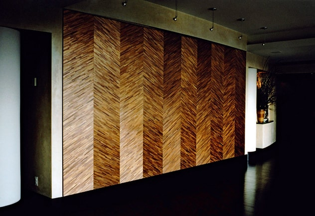 Sandrine Viollet Straw marquetry wall