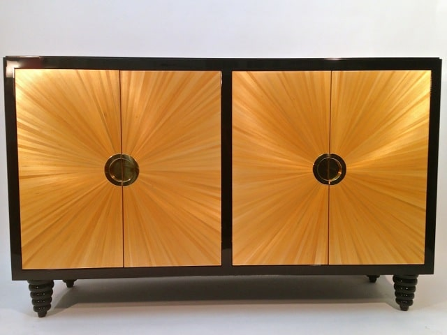 American straw marquetry furniture,