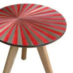 Side table red Violeta Galan UK