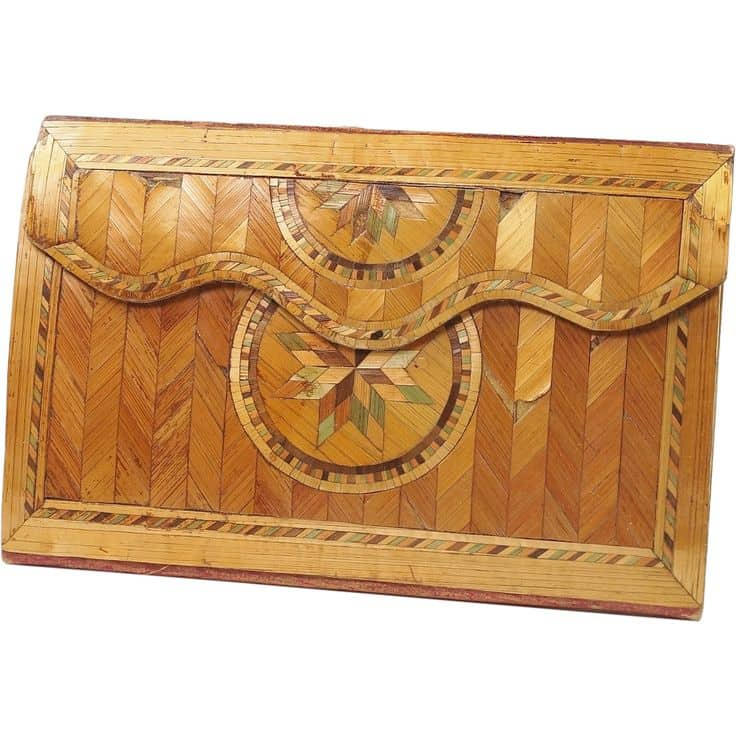 Straw Letter case purse circa 1770 French pocketbook purse letter case courtesy ruby lanejpg