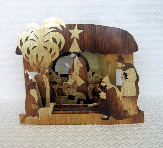 straw nativity,