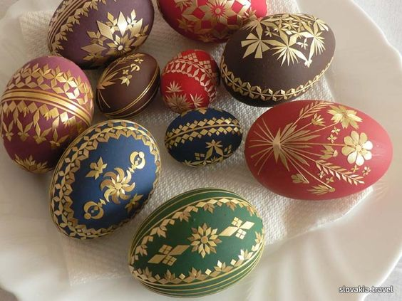 straw decorated eggs, Slovakian straw eggs, straw eggs, Slovakian Travel, The Straw Shop