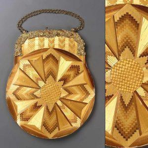 Straw purse 1820-1850 views. Courtesy Museum of Fine Arts Boston