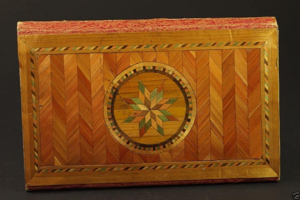 Straw purse, reverse side c 1770. JPG