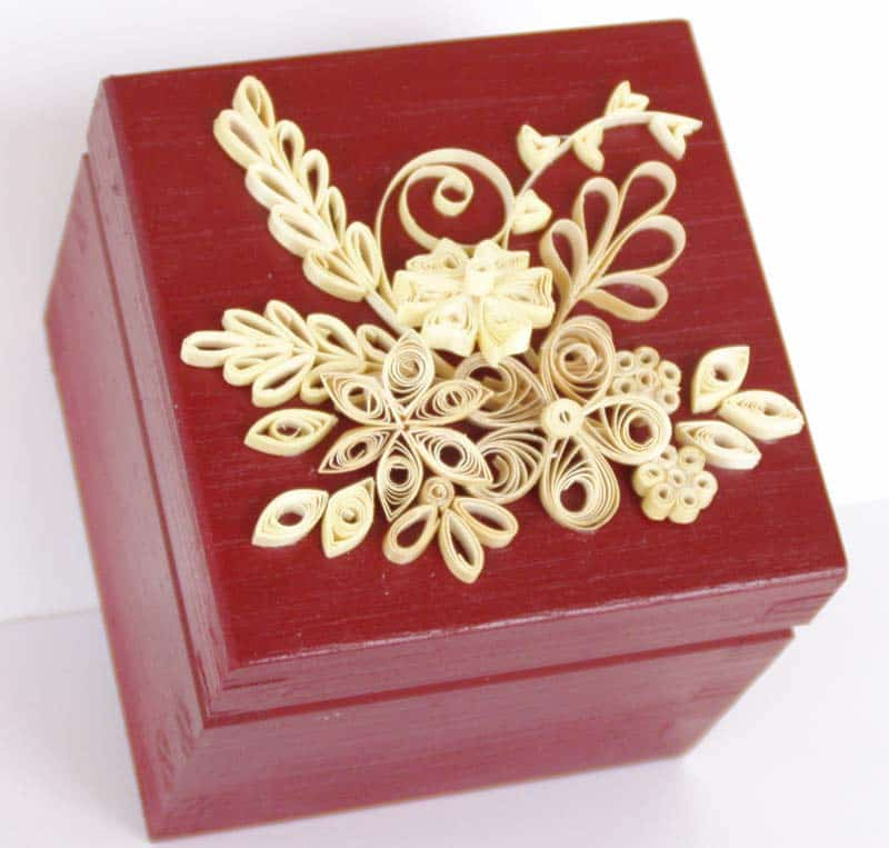 Straw Quilled Tea Box by Kathy Dailey