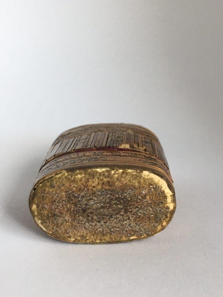 Straw vesta case with sandpaper striker. Courtesy Private Collector